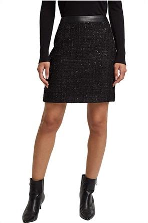 Esprit γυναικεία mini φούστα με μεταλλικές ίνες