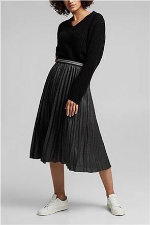 Esprit γυναικεία midi φούστα με πλισέ σχέδιο
