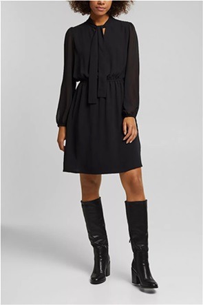 Esprit γυναικείο mini φόρεμα με δέσιμο στη λαιμόκοψη