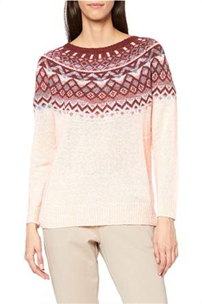 Esprit γυναικεία πλεκτή μπλούζα με γεωμετρικό σχέδιο