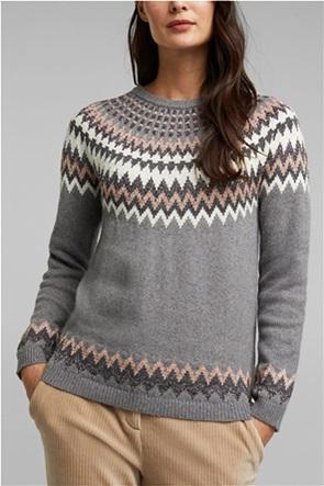 Esprit γυναικεία πλεκτή μπλούζα με διάτρητα κεντήματα