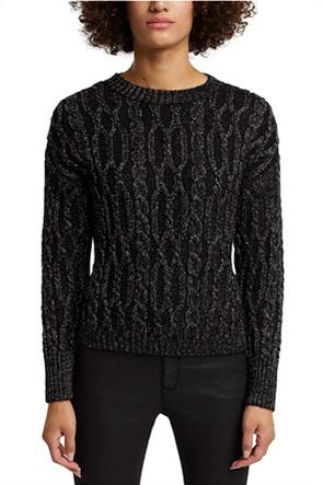 Esprit γυναικεία πλεκτή μπλούζα με μεταλλικές ίνες
