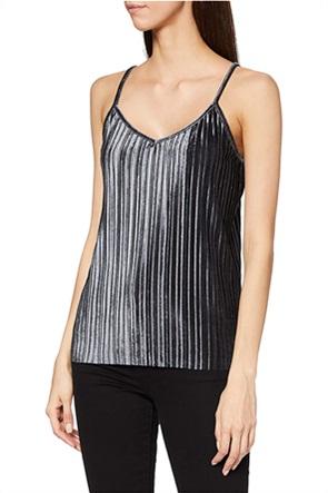 Esprit γυναικεία μπλούζα με λεπτές τιράντες και μεταλλικές ίνες
