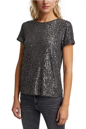 Esprit γυναικείο T-shirt με παγιέτες