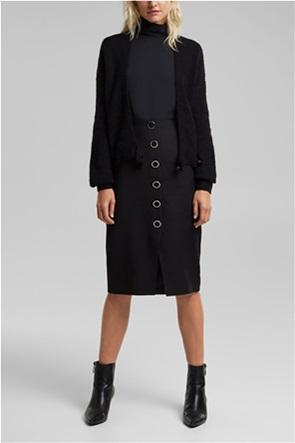 Esprit γυναικεία pencil φούστα με μεταλλικά κουμπιά