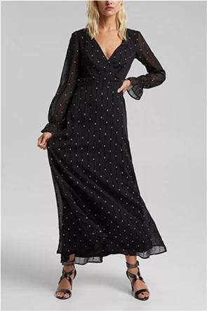Esprit γυναικείo maxi φόρεμα με all-over μεταλλικά κεντήματα