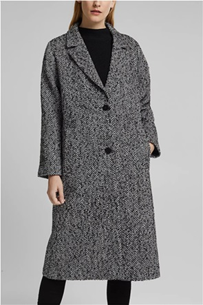 Esprit γυναικείο παλτό με herringbone σχέδιο