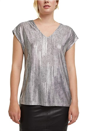 Esprit γυναικεία αμάνικη μπλούζα με V λαιμόκοψη