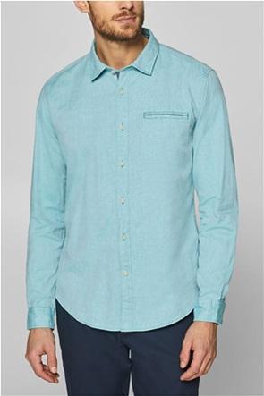 Esprit ανδρικό μονόχρωμο πουκάμισο με τσέπη