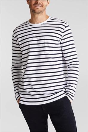 Esprit ανδρική μπλούζα με ριγέ σχέδιο