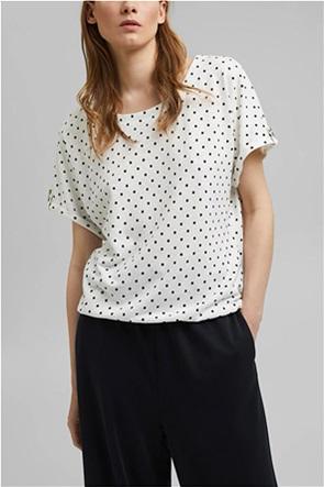 Esprit γυναικεία μπλούζα με πουά σχέδιο