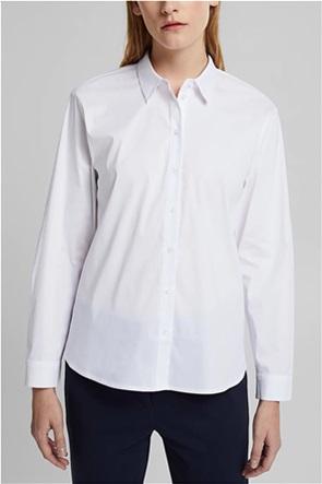 Esprit γυναικείο πουκάμισο μονόχρωμο