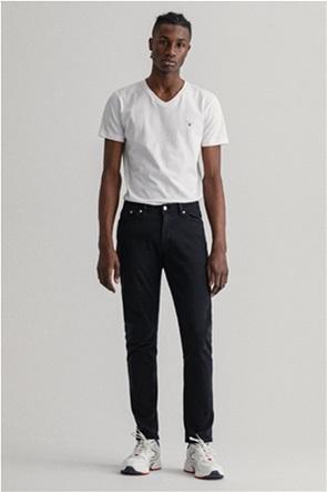 "Gant ανδρικό τζην παντελόνι μονόχρωμο ""Maxen Extra Slim Fit Active-Recover"""