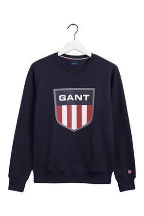 """Gant ανδρική μπλούζα φούτερ με logo stamp """"Retro Shield"""""""