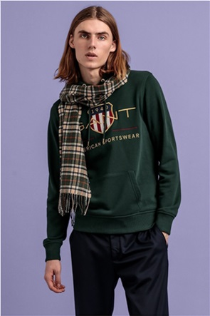 "Gant ανδρική μπλούζα φούτερ με κουκούλα και μεγαλό κεντημένο logo ""Archive Shield"""