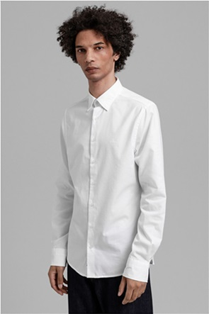 """Gant ανδρικό πουκάμισο μονόχρωμο Slim Fit """"Tech Prep™ Oxford"""""""