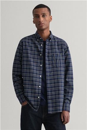 "Gant ανδρικό πουκάμισο καρό με μία τσέπη ""Beefy Oxford"""