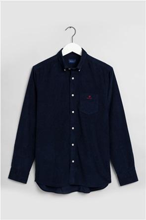 Gant ανδρικό πουκάμισο κοτλέ με μία τσέπη Regular Fit