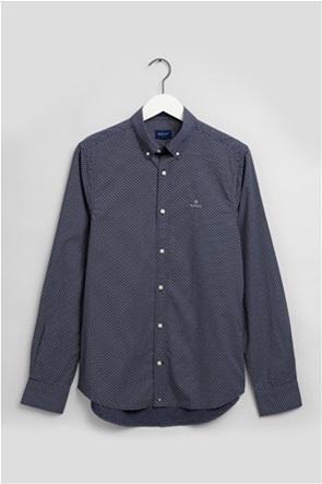 Gant ανδρικό πουκάμισο με weave print Slim Fit