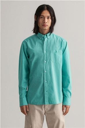 """Gant ανδρικό πουκάμισο μονόχρωμο Regular Fit """"Sunfaded"""""""