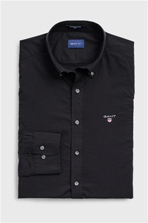 Gant ανδρικό πουκάμισο μονόχρωμο Broadcloth Check