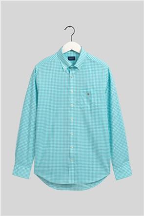 Gant ανδρικό καρό πουκάμισο Broadcloth Ginham Regular