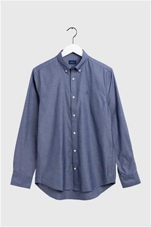 Gant ανδρικό μονόχρωμο πουκάμισο Oxford Regular Fit