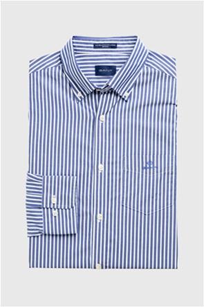 Gant ανδρικό ριγέ πουκάμισο με κεντημένο logo Regular Fit Broadcloth