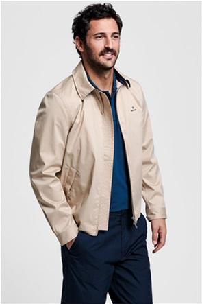 "Gant ανδρικό jacket μονόχρωμο με κεντημένο logo ""Tech Prep™ Windcheater"""