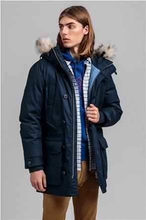 "Gant ανδρικό μπουφάν παρκά με κουκούλα με γούνα ""Arctic"""