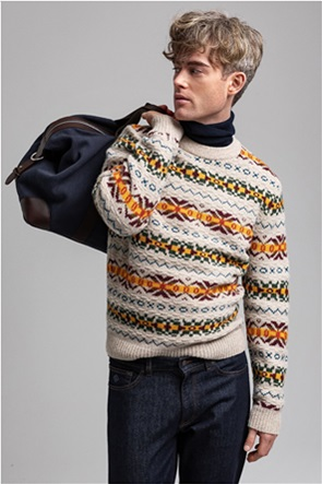 "Gant ανδρικό μάλλινο πουλόβερ με μικροσχέδια ""Fair Isle"""