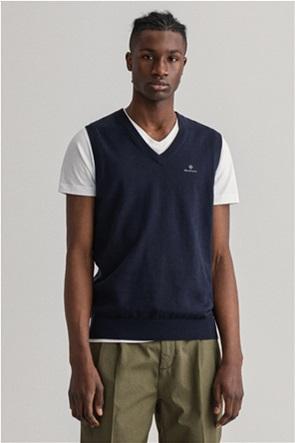 "Gant ανδρικό αμάνικο πουλόβερ με κεντημένο logo ""Classic"""