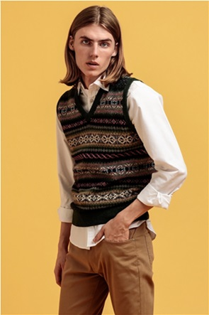 "Gant ανδρικό αμάνικο πουλόβερ με μικροσχέδια ""Fair Isle"""