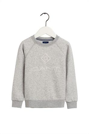Gant παιδική μπλούζα φούτερ με κεντημένο logo