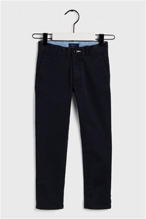 Gant παιδικό παντελόνι chino μονόχρωμο regular fit