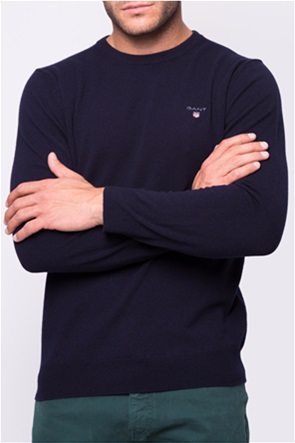 Gant ανδρικό μάλλινο πουλόβερ με κεντημένο logo