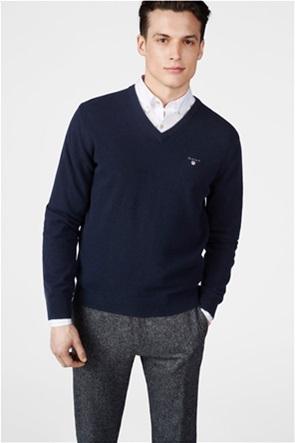 Gant ανδρικό μονόχρωμο πουλόβερ με V