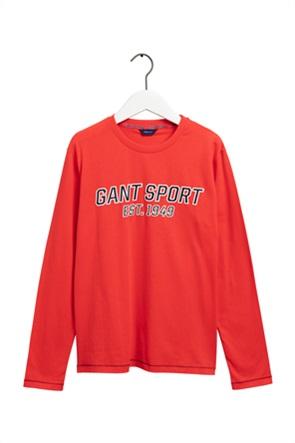 Gant παιδική μπλούζα με μεγάλο logo print μονόχρωμη