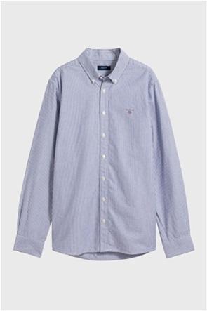 Gant παιδικό πουκάμισο Oxford μονόχρωμο