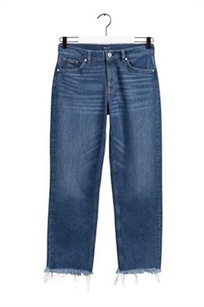 "Gant γυναικείο τζην παντελόνι cropped με ξέφτια ""Camie"""