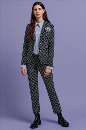 "Gant γυναικείο cigarette παντελόνι με all-over G print ""Iconic G"""