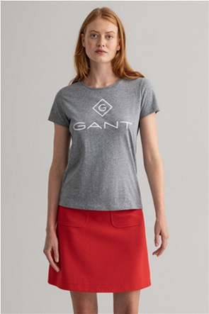 Gant γυναικείο T-shirt κοντομάνικο με logo print