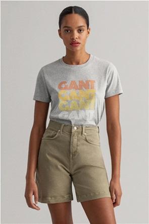 "Gant γυναικείο T-shirt με logo print ""Gradient Graphic"""