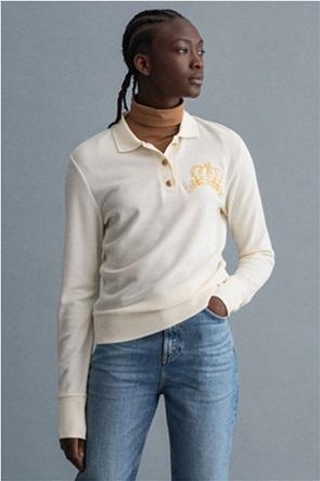 "Gant γυναικεία πόλο μπλούζα πικέ με κεντημένο σχέδιο ""Crown"""