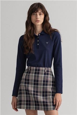 Gant γυναικεία μπλούζα πόλο πικέ μονόχρωμη