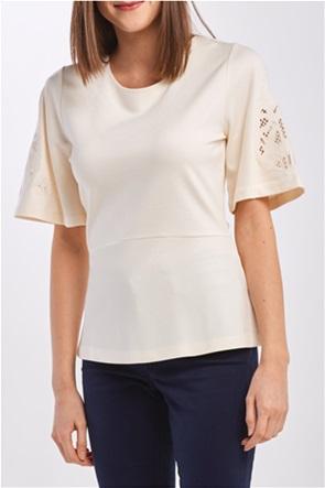 Gant γυναικεία μπλούζα με δαντέλα στα μανίκια