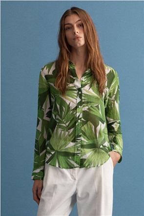 Gant γυναικείο πουκάμισο με all-over leaf print ''Palm Breeze''