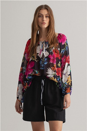 Gant γυναικεία μπλούζα με all-over tropical floral print Relaxed Fit