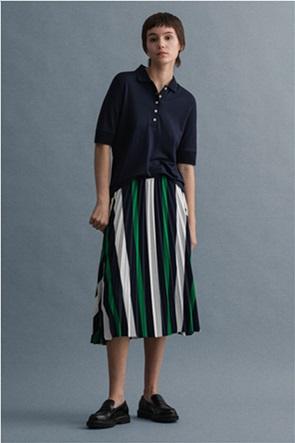 Gant γυναικεία midi φούστα πλισέ με ριγέ σχέδιο