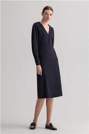 "Gant γυναικείο midi φόρεμα μονόχρωμο ""Blouson"""
